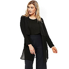 Evans - Black collared cover up