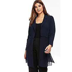 Evans - Navy blue collared cover up