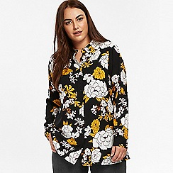 Evans - Black and yellow floral shirt