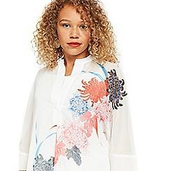Evans - Ivory floral shirt