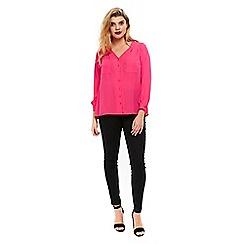 Evans - Pink cross back shirt