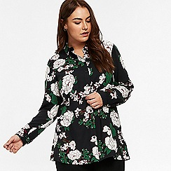 Evans - Green floral shirt