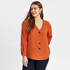 Evans - Orange button front shirt