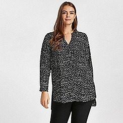 Evans - Black animal print shirt