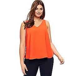 Evans - Orange double layer camisole top