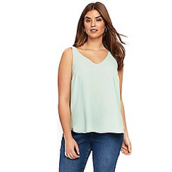 Evans - Mint double layer camisole top