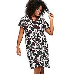 Evans - Berry floral short nightdress