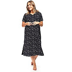 Evans - Navy blue star print nightdress