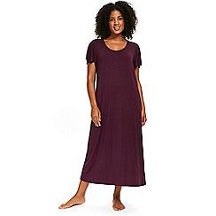 Evans - Plain plum long nightdress