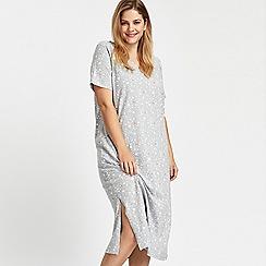 Evans - Grey star & heart printed nightdress