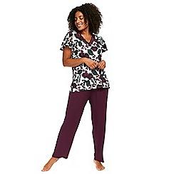 Evans - Berry floral pyjama set