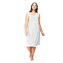 Evans - Grey sleeveless lace long nightdress