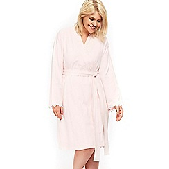 Evans - Pink lace dressing gown