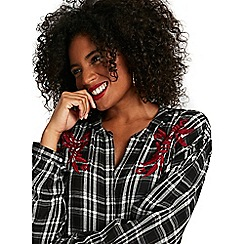 Evans - Embroidered check shirt