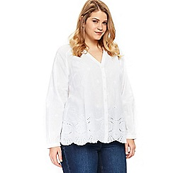 Evans - White cutwork shirt