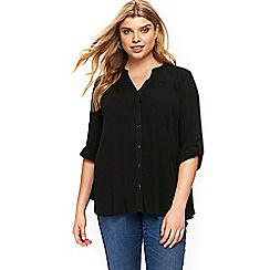 Evans - Black button up blouse