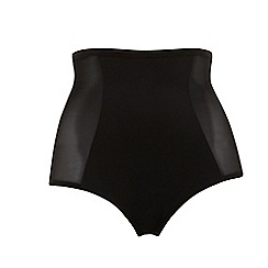 Evans - Black High Waisted Mesh Knickers