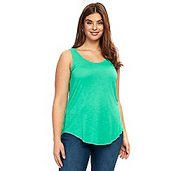 Evans - Green vest top