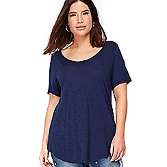 Evans - Navy blue short sleeve t-shirt