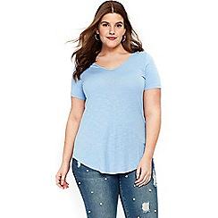Evans - Blue v-neck t-shirt