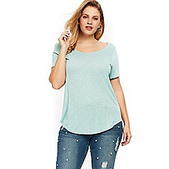 Evans - Sage scoop neck t-shirt