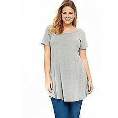 Evans - Grey short sleeve tunic top