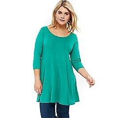Evans - Jade green swing tunic top