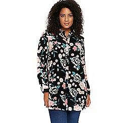 Evans - Black floral shirt