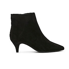 Evans - Extra wide Fit Black Kitten Heels Ankle Boots