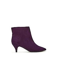 Evans - Extra wide fit purple kitten heel boots