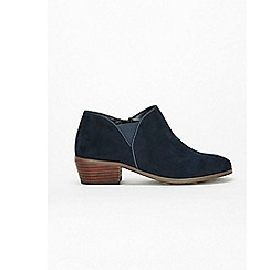 Evans - Extra wide fit navy low cut ankle boots