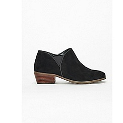 Evans - Extra wide fit black low cut ankle boots