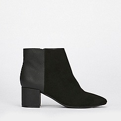 Evans - Extra wide fit black block ankle boots