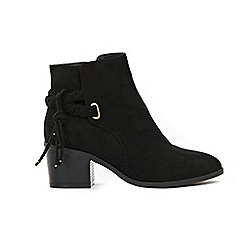 Evans - Plait detail ankle boots