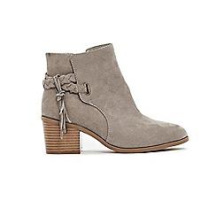 Evans - Plait detail ankle boots