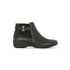 Evans - Extra Wide Fit Black Comfort Wedge Ankle Boots