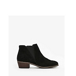 Evans - Wide fit black low elastic ankle boots