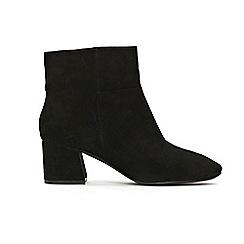Evans - Extra Wide Fit  Black Flared Block Heel Boot