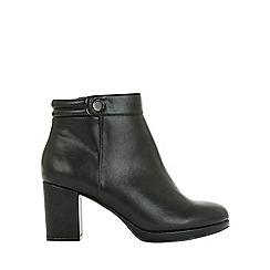 Evans - Extra wide fit black platform heeled ankle boots