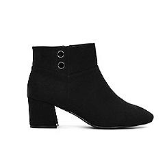 Evans - Black button detail ankle boots