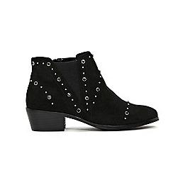 Evans - Extra Wide Fit Stud Detail Block Heel Boots