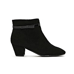 Evans - Extra Wide Fit Black Bow Detail Ankle Boots
