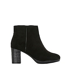 Evans - Extra wide fit black crocodile ankle boots