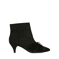 Evans - Extra wide fit black kitten heel ankle boots