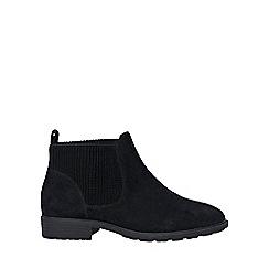 Evans - Wide fit black elastic chelsea boots
