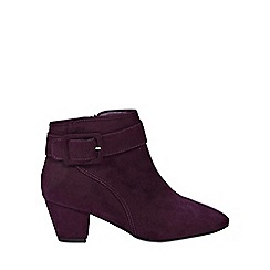 Evans - Wide fit purple square buckle ankle boots