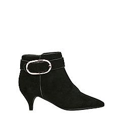 Evans - Extra wide fit black kitten heel boots