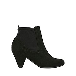 Evans - Extra wide fit black low heel ankle boots