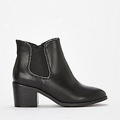 Evans - Extra wide fit black block heel chelsea boots