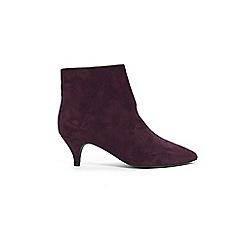 Evans - Wide fit purple kitten heel ankle boot